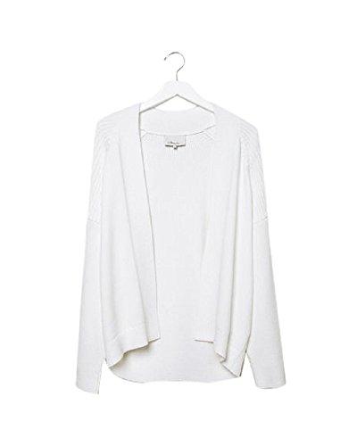 3.1 Phillip White Bias Rib Sweater Large - 3.1 Phillip Lim Sweater