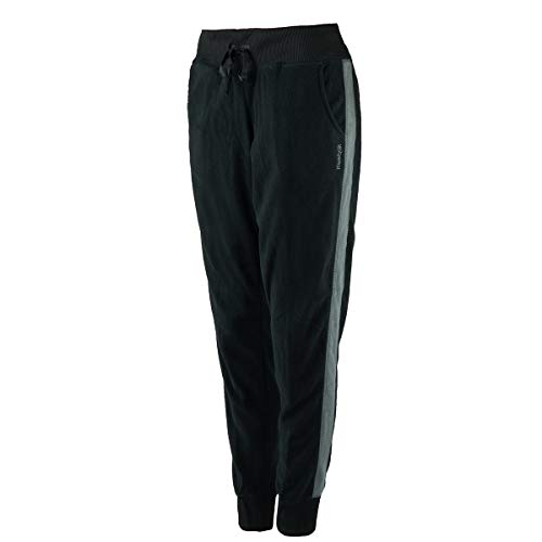 Fleece Striped Jogger Pants Black XS ()