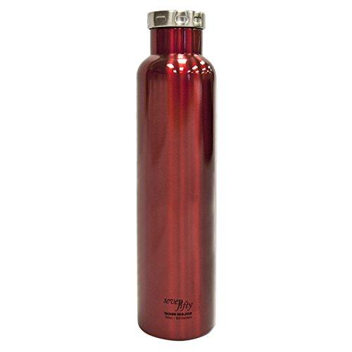Seven Fifty Shiraz Vacuum-Insulated Stainless Steel Wine Growler - 750 mL Capacity