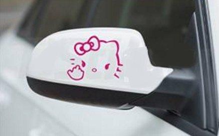 Hello Kitty - Mittelfinger Aussenspiegel Aufkleber