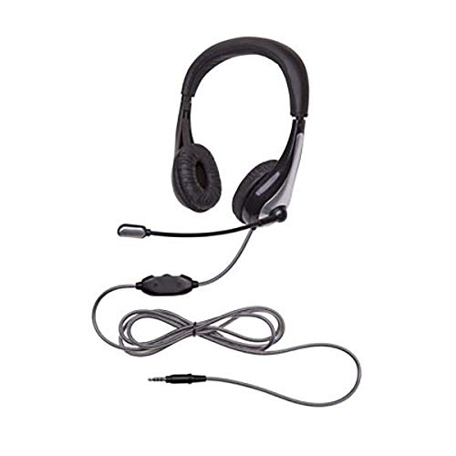 Califone 1025MT NeoTech 1025MT Headset with Gooseneck Microphone, Black/Silver