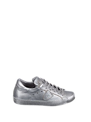 Philippe Model Damen CGLDML22 Silber Leder Sneakers