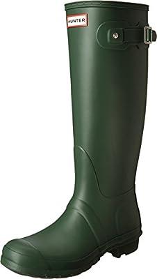 Hunter Women's Original Tall Hunter Green Rain Boots - 7 B(M) US