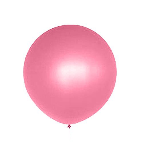 Dds5391 New 36 Inch Perfect Round Inflatable Latex Balloon Wedding Birthday Party Decor - Rose Red by dds5391 (Image #4)