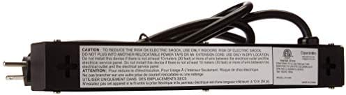 Opentron OT1046 Metal Power Strip Surge Protector 4 Outlets 6 Feet Extension Cord 1 Foot Long
