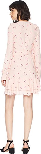 Juicy Couture Women's Rose Floral Flirty Wrap Dress Soft Glow Floral Riot Medium by Juicy Couture (Image #2)