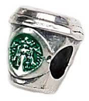 Zable Sterling Silver Coffee Cup Bead Charm (10 X 9 mm)