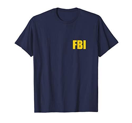 FBI Agent Funny Halloween Costume Front Back Tee -