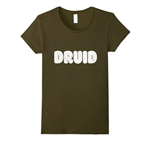 Female Druid Costume (Womens Costumized Shirts Costumized T Shirt Druid Class RPG Tee Large Olive)