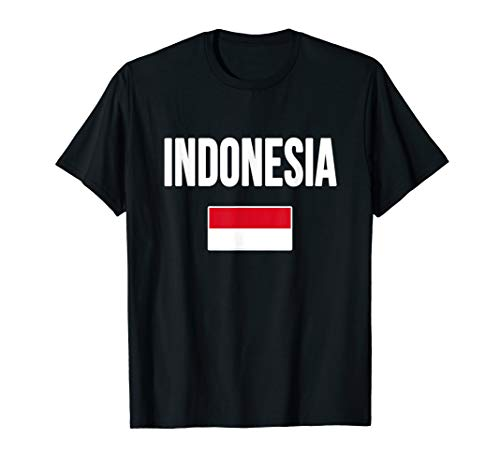 Indonesia T-shirt Indonesian Flag Souvenir