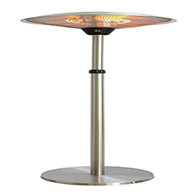 Ener-G+ HEA-21821SH-T Infrared Electric Portable Standing Heater, One Size Silver