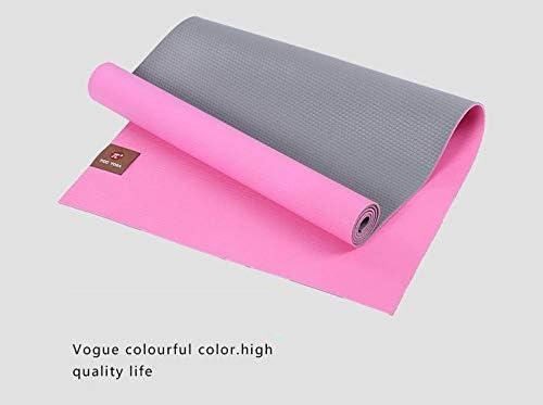 Eco friendly 環境に優しいPVCヨガマット腹筋エクササイズマットごとのプレートサポートマットヨガジム(180センチメートルX 66センチメートルX 6ミリメートル) exercise (色 : Pink)