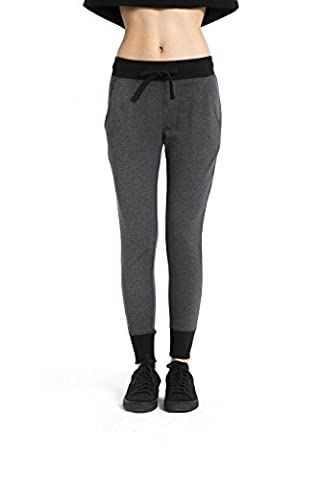 VIVILISH WOMEN ESSENTIAL CONTRAST SLIM-FIT SWEATPANT - Designed in Los Angeles (Relaxed Fit In Los Angeles Dark)