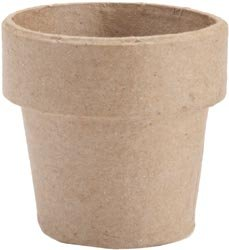 Bulk Buy: Corein.dinations Paper Mache Clay Pot 4in. x 4in. (12-Pack)