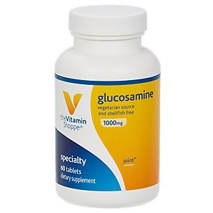 The Vitamin Shoppe Glucosamine 1,000MG, Vegetarian Source Shellfish Free, Supports Joint Health (60 Tablets)