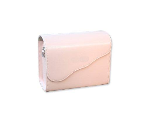 DSstyles Retro PU Leather Camera Shoulder Case Bag Cover for Fujifilm Instax Mini 8 - Pink