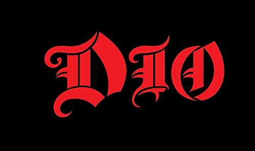 """DIO 6"""" Wide Rock Band Decal Sticker for Cars Laptops Tablets"""