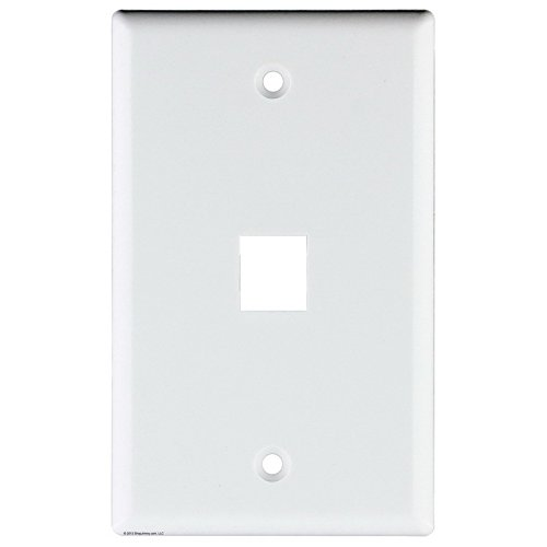 Signamax Inc 1-Gang Faceplate; Screw Terminal, (2) Port Keystone, High Impact Thermoplastic, White ()