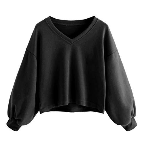 Hot Rod Movie Halloween Costume (HebeTop Women's Casual Drop Shoulder Lantern Sleeve Ribbed Pullovers Sweatshirt)