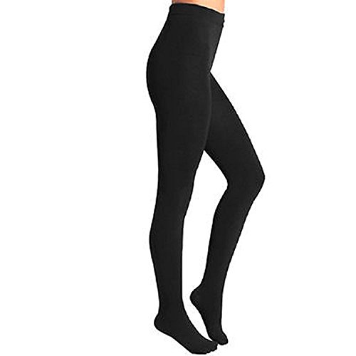 (Body Wrappers Footed Tights, Black, 3X-4X)