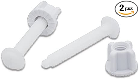 1-inch Plastic Number Plate Nuts and Bolts White