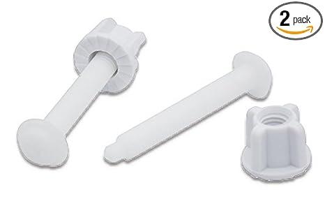Miraculous Universal White Plastic Toilet Seat Hinge Bolt Screw For Top Mount Toilet Seat Hinges 2 Pack Inzonedesignstudio Interior Chair Design Inzonedesignstudiocom