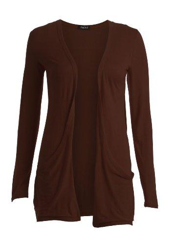 Chocolat Boyfriend Fashion Femme 42 40 Gilet Fast style Long Manches Longues vqwwSUP