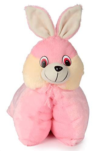 Deals India Folding Bunny Pillow Cum Soft Toy   40 Cm