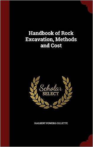 Handbook of Rock Excavation, Methods and Cost