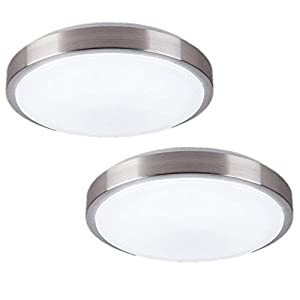 ZHMA 8-Inch LED Ceiling Light,Flush Mount Lighting,12W 880LM,4500K,Hallway Light Fixtures Ceiling,Laundry,Closet Light(2-Pack)