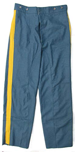 Military Uniform Supply U.S. Civil War Mounted Trousers - Sky Blue Yellow Stripe - 32