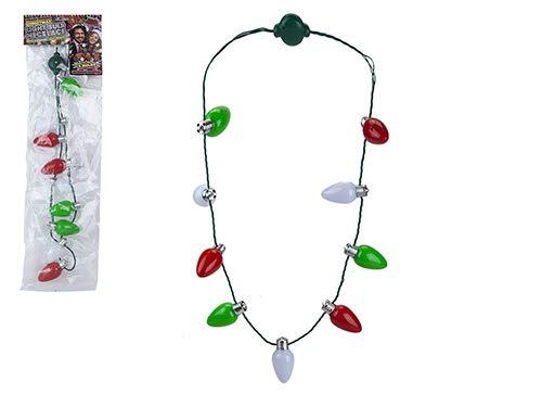 TOYLAND Christmas Light Bulb Necklace con 3 increíbles Efectos de ...