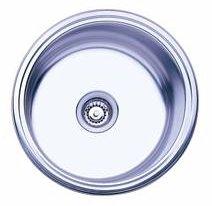 Oliveri 410 0 Stainless Steel Sink, Single Round Basin, Topmount Or Down  Undermount