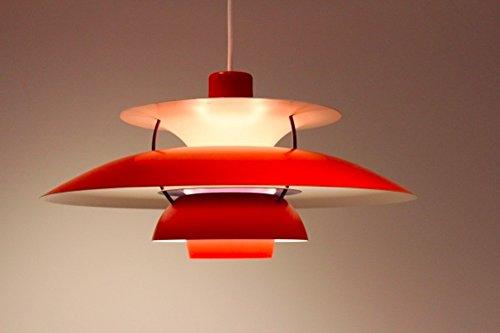 Rot ph 5 moderne classic replica anhänger von poul henningsen für