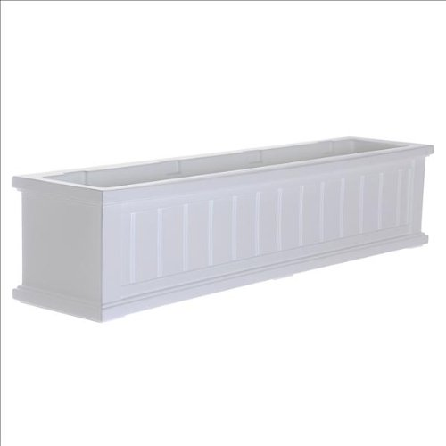 Cape Cod Window Box 4FT White by Mayne Mailpost