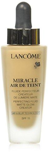 Lancome Miracle Air De Teint Perfecting Fluid Matte Glow Creator SPF 15, No. 01 Beige Alb, 1 Ounce