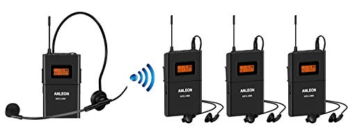 Price comparison product image Anleon MTG-100 UHF Wireless Tour Guide System 902-927mhz For Tour Guides Museum Church Translation etc. (1 transmitter & 3 receiver)