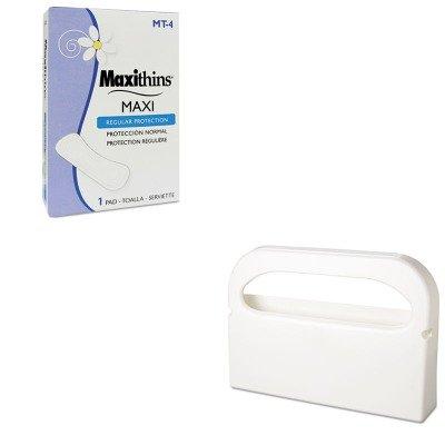 KITHOSHG12HOSMT4 - Value Kit - Hospeco MT-4 Maxithins Thin, Full Protection Sanitary Napkins (HOSMT4) and Health Gards Toilet Seat Cover Dispenser (HOSHG12)