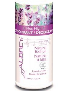 E Plus High C Deodorant Lavender Scent Aubrey Organics 3 oz Bottle
