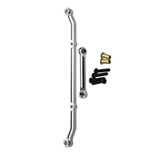 (Dabixx SCX10 Steering Link, Aluminum Steering Linkage Link Arm for 1/10 RC Rock Crawler Axial SCX10  Parts - Silver)