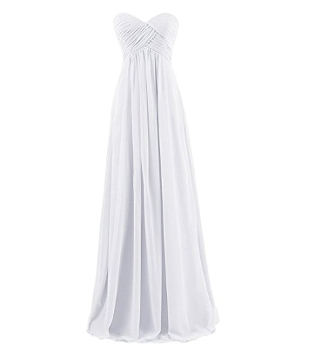 GlorySunshine Strapless Sweetheart Chiffon Bridesmaid Dresses Long Evening Gowns