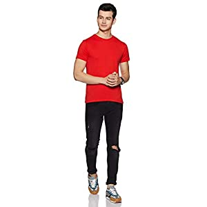 Amazon Brand – Symbol Men's Solid Regular Fit Half Sleeve Cotton T-Shirt (Combo Pack of 5)
