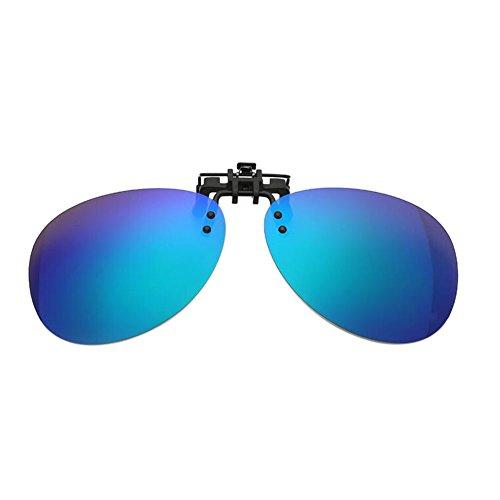 soleil Blue Lunettes Polarisé Fishing Meijunter Hommes up UV400 Flip Driving de Lentille Round Myopia Clip on Yellow Uqaw57qC6