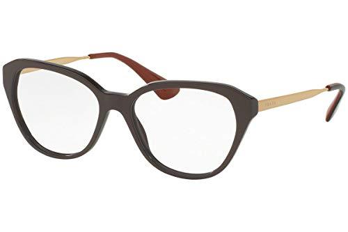 Prada Women's PR 28SV Eyeglasses Brown 54mm ()