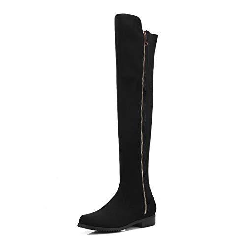 donna Stivali da Stivali Stivali con casual donna da Sandalette ginocchia donna DEDE black Scarpe da w1XEPz