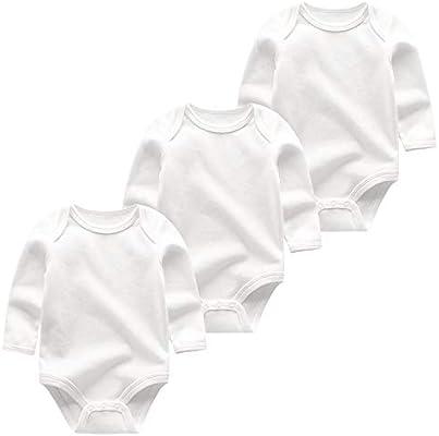 Monos Bebé La Ropa del bebé del Mameluco recién Nacido Ropa Infantil 3pcs / Lot Trajes de algodón de Manga Completa del niño del bebé Onesie (Color : BDL3015, tamaño : 3M):