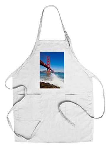 San Francisco, California - Golden Gate Bridge and Ocean Spray - Photography A-92293 (Cotton/Polyester Chef's Apron) ()