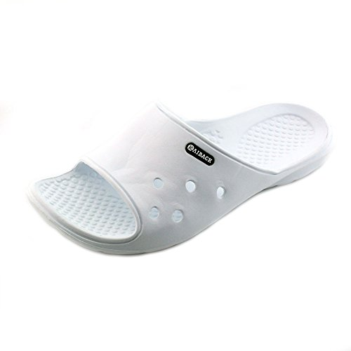 Kaiback Men's Poolside Slide Shower Sandal (11/12, White)