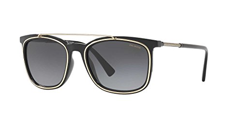 Versace Mens Sunglasses Black/Grey Plastic,Nylon - Polarized - - Shades Versace Black