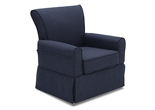 Delta Children Upholstered Glider Swivel Rocker Chair, Sailor Blue (Rocker Childs Upholstered)